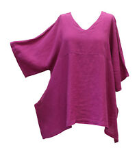 Match Point Linen Kimono Tunic NWT Oversized   Violet    S M L XL