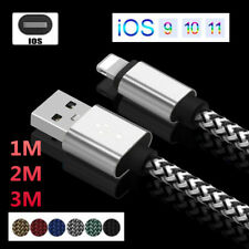 HIGH SPEED Nylon Braided Date Sync Charger Cable Cord For iPhone 5s 6 7 8 X iPad