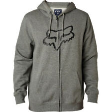Fox Racing Legacy Foxhead Mens Hoody Zip - Heather Graphite All Sizes