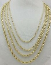 Men Women Real 14k Gold Filled Twisted Solid French Rope Link Chain Necklace