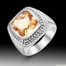 Neutral Fashion Jewelry Morganite 925 Sterling Silver Gemstone Ring size 7 8 9