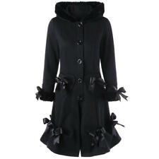 Long Vintage Gothic Medieval Fur Cape Trench Coat Womens Winter ladies outerwear