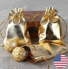 Candy Bags Jewelry Gold/Silver Organza Jewelry Wedding Packing Gift Bags Party