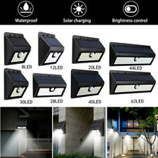 2x LED Solar Power PIR Motion Sensor Light Outdoor Garden Security Wall Light