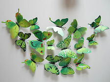 Beautiful Butterfly Room Decoration Stickers Colorful 3D 12PCS Wall Sticker FT31