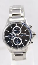 Men's Seiko SSC267 Solar Chronograph Black Dial w/ Date Stainless Steel Watch