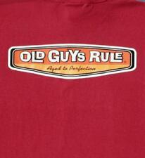 OLD GUYS RULE CLASSIC AGED TO PERFECTION RED TEE SHIRT