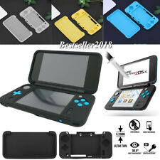 Silicone Soft Case Cover + Screen Protector Film For Nintendo 2DS XL/LL 2017 HOT