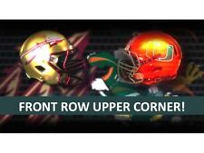 3 TIX FLORIDA STATE SEMINOLES @ vs MIAMI HURRICANES  2018-FRONT ROW UPPER CORNER