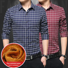 Long sleeves plaid shirt 1Pcs Solid color Men's Shirts Casual shirt