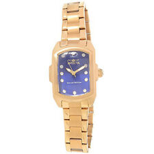 Invicta Lupah Blue Dial Gold-plated Ladies Watch 16284 Sale