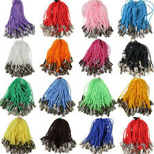 20/50Pcs Mobile Phone Dangle Strap String Tag Clasp Thread Jumprings Wire Cord