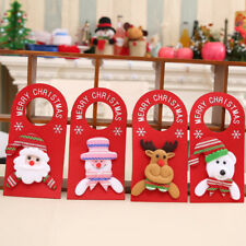 BL_ Lovely Xmas Santa Claus Snowman Moose Bear Christmas Door Hanger Decor Relia