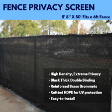 Black/Green/Brown 6' X 50' Fence Privacy Screen Windscreen Mesh Fabric Outdoor