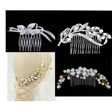 Bridal Hair Comb Hair Jewelry Crystal Rhinestone Hair Clips Pins Combs Wedding
