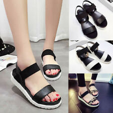 FT- Summer Women Roman Sandals Open Toe Ankle Strap Anti-skid Platform Shoes Del