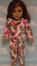 """Pajamas handmade for 18"""" American Girl Doll to fit 18 inch Doll Clothes 401b"""