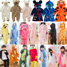 Unisex Baby Kid Animal Pajamas Romper Kigurumi Cosplay Costume Bathrobe Jumpsuit