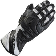 Spidi STS-S Leather Motorcycle Motorbike Touring Racing Gloves - Black White