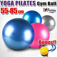 SWISS BALL YOGA HOME GYM EXERCISE PILATES FITNESS BALL W/ PUMP 55 65 75 85CM