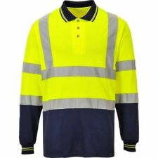 Portwest - Two-Tone Long Sleeved Hi-Vis Safety Workwear Polo Shirt