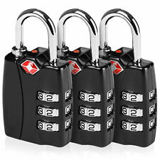 TSA Approved Luggage Lock Suitcase Travel Security Padlock 3 Digit Combination