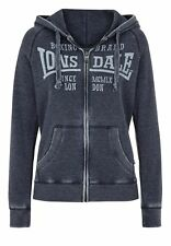 Lonsdale Ladies Zip Hoody Selby Navy Blue Front Print Hood fit XS S M L XL NEW
