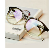 Unisex Retro Vintage Glasses Round Clear Lens Eyewear oval Lady Women Men Nerd
