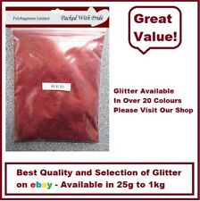 RED GLITTER - BULK PACKS - NAIL ART - WINE GLASS - ARTS & CRAFTS 100g - 1Kg