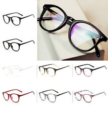 Unisex Retro Vintage Glasses Round Clear Lens Eyewear oval Women Men Nerd Party