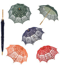 Romantic Lace Cotton Floral Umbrella Parasol Wedding Bridal Flower Girl Decor