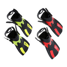 1 Pair Short Silicone Diving Fins Adult Snorkeling Training Adjustable Fins