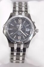 Men's Seiko SKA551 Le Grand Sport Two Tone Stainless Black Kinetic Dial Watch