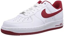 Nike Men's Air Force 1, WHITE/GYM RED-GYM RED, 12 M US