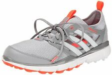 adidas Women's W Climacool II Golf Shoe, Clear Onix/Running White/Solar Red, 7