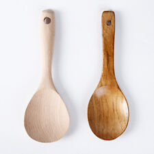2 Color Rice Scoop Cooking Spoon Wooden Soup Kitchen Utensil Table Ladle 1pc
