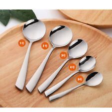 1pc Kitchen Stainless Steel Dinner Soup Spoon Tableware Cutlery Spoon Silver