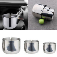 Cup Canister Ashtray Stainless Steel Car Cigarette Cigar Smoking Ash Tray