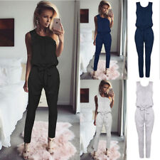 Women Sleeveless Long Pants Spring Jumpsuit Casual Ladies Summer Romper Playsuit