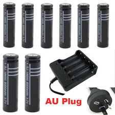 3.7V 18650 Rechargeable Battery  Batteries or Charger for LED Torch Flashlight