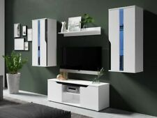 Living Room Set ROMA High Gloss TV Unit Cabinet Furniture LED Lights Included!!