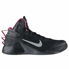 Nike Mens Zoom Hyperfuse 2013 Basketball Shoes, Black/Metallic Silver-dark Grey