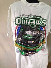 360 OTC World of Outlaws late model series dirt racing race car white t-shirt