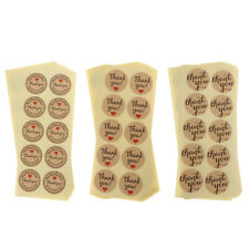 9 Sheets Kraft Paper Thank You Stickers Gift Packing Party Favor Seal Label Tags