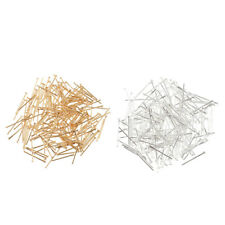Wholesale 200pcs 19mm Head Pin Jewelry Finding Connectors Gold Silver Plated