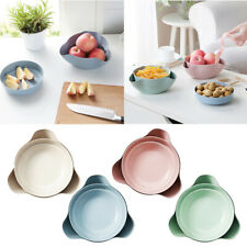 2 In 1 Fruit Candy Snack Nut Compote Holder Dish Tray Decoration Plate 4 Colors