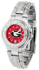 Georgia Bulldogs UGA Women's Stainless Steel Dress Watch