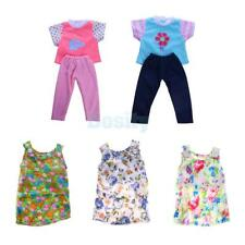 """Floral Skirt Dress Shirt Pants for 18"""" American Girl My Life Doll Clothes Outfit"""
