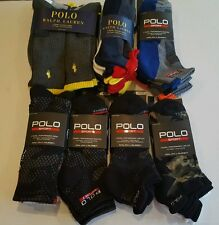 POLO RALPH LAUREN & PRL SPORT Crew/Quarter/Low Cut Socks SNOW CAMO 3 or 6 PACK