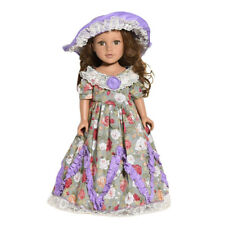 DIY Dress &Hat Doll Clothes For 18 inch Doll Baby Kids Dress Skirt Party Clothes